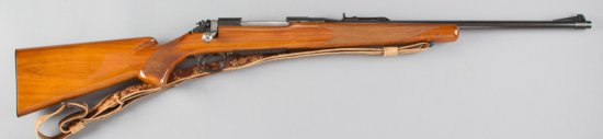 Historical Remington, Model 720 A, Bolt Action Rifle, .30-06 Caliber, SN 42479, floor plate is engra
