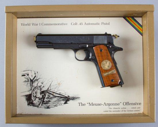 Factory engraved Colt WWI Commemorative, Model 1911, Semi-Automatic Pistol, .45 ACP Caliber, SN 5149