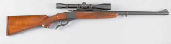 "Sturm & Ruger, No.1, Single Shot, Falling Block Rifle, .243 WIN Caliber, SN 5471, 22"" barrel, blue f"