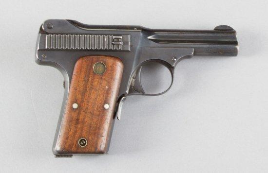 """Smith & Wesson, Model 1913, Semi-Automatic Pistol, .35 S&W Caliber, SN 6539, 3 1/2"""" barrel, blue fin"""