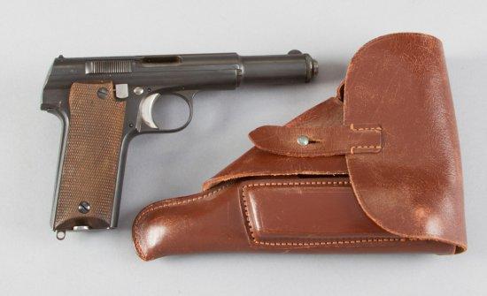 "Astra, Model 600/43, Semi-Automatic Pistol, 9 MM Parabellum Caliber, SN 36345, 5 1/4"" barrel, blue f"