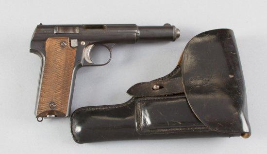 "Astra, Model 600/43, Semi-Automatic Pistol, 9 MM Parabellum Caliber, SN 54902, 5 1/4"" barrel, blue f"
