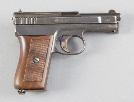 "Mauser, Model 1910, Semi-Automatic Pistol, 6.35 MM (.25 ACP) Caliber, SN 270551, 3"" barrel, nice ori"