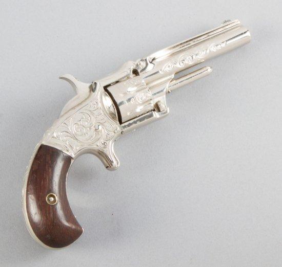 "Antique Marlin, Vest Revolver, 7-shot, .22 Caliber, SN 2742, top of barrel is marked ""XX Standard 18"