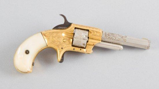 "Antique Whitneyville, 7-shot, Vest Revolver, .22 Caliber, SN 48768, 2 1/2"" barrel with factory mothe"