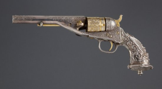Colt, Model 1862, Conversion Revolver, manufactured in 1872. This revolver has New York style engrav