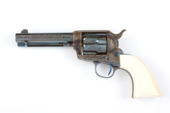"Colt, Single Action Army Revolver, SN 86944 ""Factory Engraved"", manufactured 1883, 5 1/2"" barrel, .4"