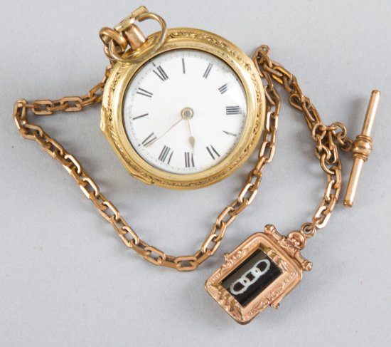 High quality, early key wind Pocket Watch with ornate filigreed case, movement is marked Jos. Kember