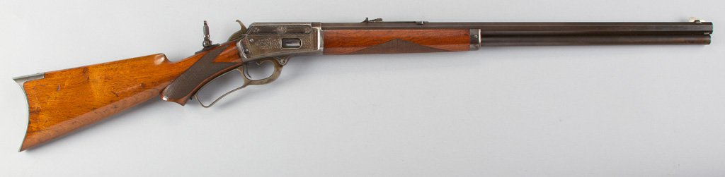 """Marlin, Model 1889, Lever Action Rifle, semi-deluxe factory engraved, .38 WIN Caliber, SN 66289, 24"""""""