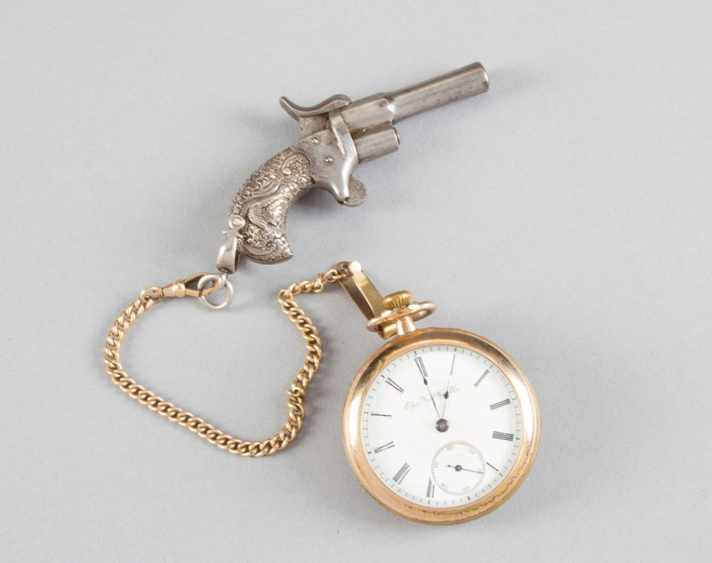 Unique gold filled, open face Pocket Watch by Elgin Watch Co., movement is marked G.M. Wheeler, SN 2