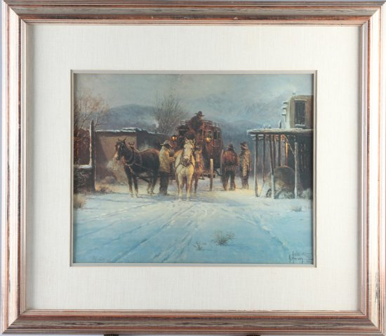 An original matted and framed Artist Proof, #20, double signed by the late G. Harvey (1933-2017), su