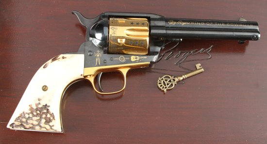 "Cased ""Roy Rogers, King of the Cowboys"", single action Revolver, SN SA5213, issue number 515, .45 Ca"