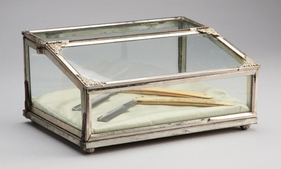 Unique antique, silver and glass Display Case, made by the Novelty Showcase Company, February 10, 19
