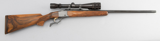 "Ruger, No.1, Single Shot Rifle (Barrel is marked ""Made in the 200th Year of American Liberty""), with"
