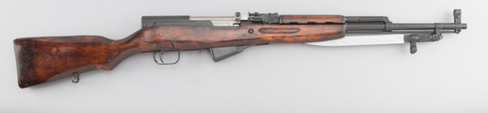 Russian, Model SKS, Semi-Automatic Rifle, 7.62x39 caliber, SN EP2417, manufactured 1952, all matchin
