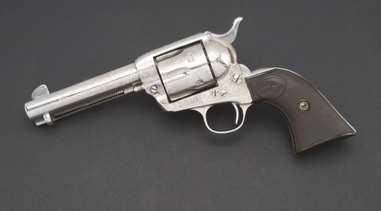 Factory engraved Colt SAA Revolver, SN 317027, accompanied by a copy of a Colt Archives Letter that