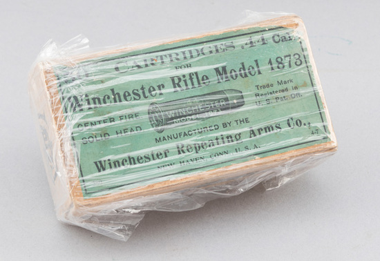 Full box of Winchester, Model 1873, Rifle Cartridges in .44 caliber.  This is a highly collectible a