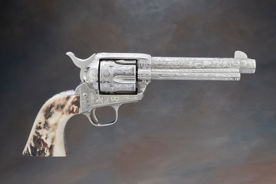 Handsome Cole Agee Cattle Brands engraved, Colt Single Action Army, .45 caliber Revolver, SN 11419SA