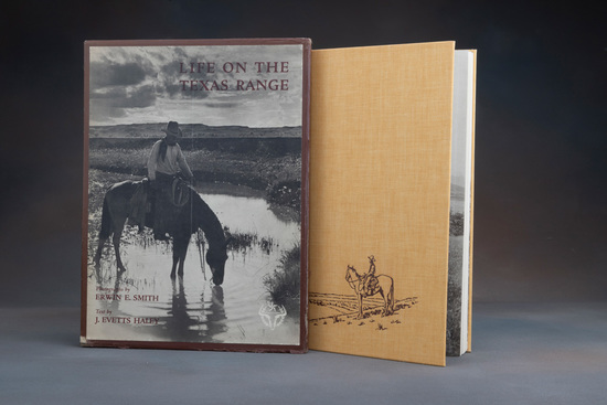 "Vintage and very desirable Book titled ""LIFE ON THE TEXAS RANGE"", Photographs by Erwin E. Smith, Tex"
