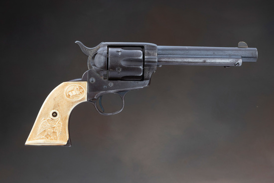 "Antique Colt, SAA Revolver, .45 Colt caliber with 5 1/2"" barrel.  Manufactured in 1891, the SN 14112"
