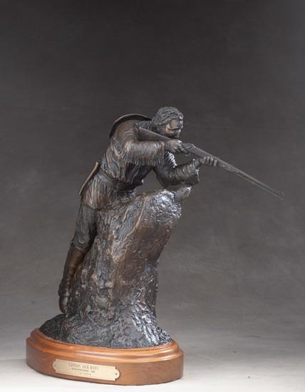 """An original western Bronze Sculpture by noted Texas artist H. Clay Dahlberg (B. 1946), titled """"CAPTA"""