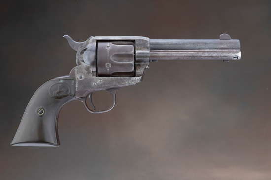 "Antique, Colt SAA Revolver, .44-40 caliber with 4 3/4"" barrel, manufactured in 1894, SN 157829 match"