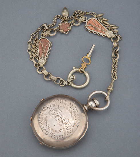"An Historical Waltham, key wind, Hunting Case Pocket Watch marked ""Keystone Coin"", manufactured from"