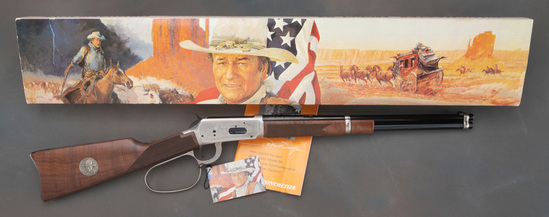 New in Box, Winchester, Model 94, John Wayne Commemorative, Lever Action Saddle Ring Carbine, .32-40
