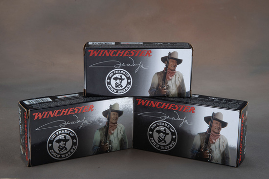 This  consists of three Boxes of Winchester, John Wayne Commemorative Cartridges, new in box to incl
