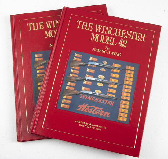 """From the Reference Library Collection of LEO BRADSHAW:  Two books titled """"The Winchester Model 42"""","""