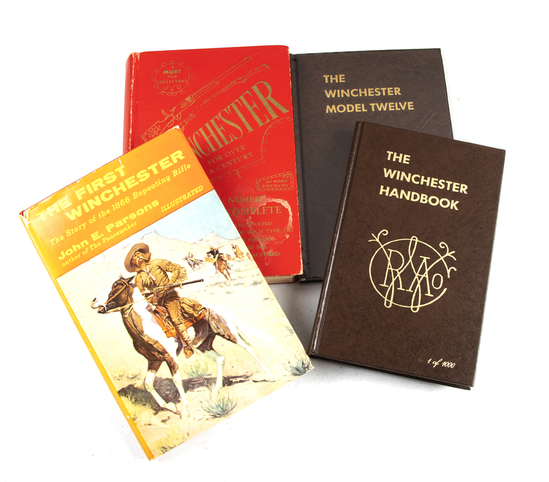 """From the Reference Library Collection of LEO BRADSHAW:  Four Books titled (1) """"THE WINCHESTER HANDBO"""