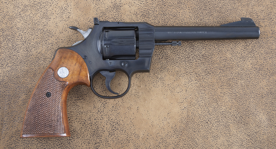 """Extremely fine Colt, Officers Model Match, Double Action Revolver, .22 LR caliber, SN 86948, 6"""" tape"""