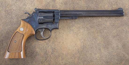 Very desirable Smith & Wesson, Model 17-4, Double Action Revolver, .22 LR caliber, SN 3LK0500, 8 1/4