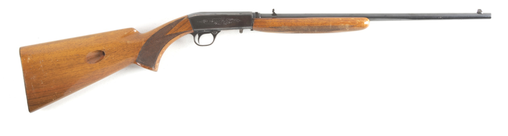 """Browning , Automatic Rifle, .22 LR caliber, SN 2T27223, 19"""" barrel, checkered walnut stock, shows so"""