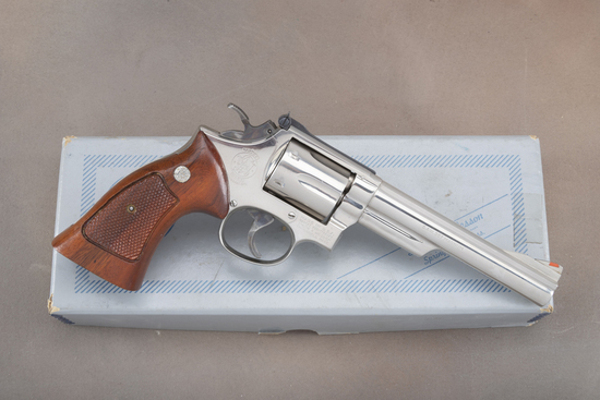 A fine boxed Smith & Wesson, Model 19-4, Double Action Revolver, .357 MAG caliber, SN 52K0617, 5 7/8