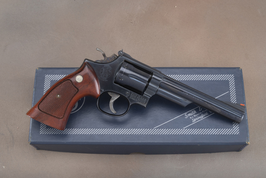 "Boxed Smith & Wesson, Model 19-4, Double Action Revolver, .357 MAG caliber, SN 55K1389, 5 7/8"" barre"