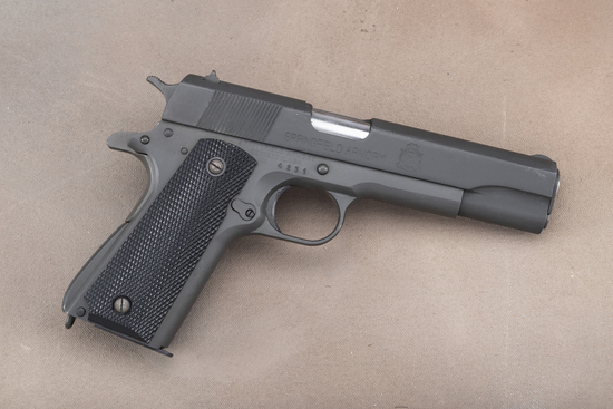 "Springfield Armory, Model of 1911-A1, .45 ACP Auto Pistol, SN 4231, 5"" barrel, matte finish, checker"