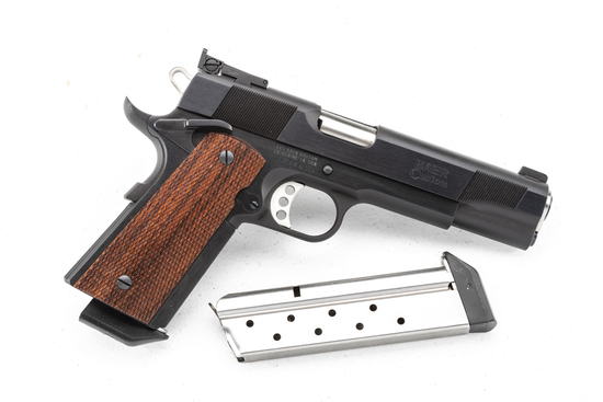 "Les Baer Custom, Model .38 Super, Auto Pistol, SN LB38653, 5"" barrel, blue finish, sold new in box w"