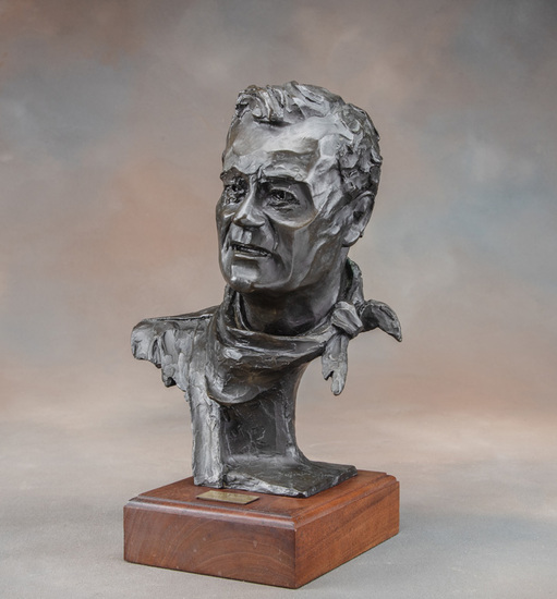 An original Bronze Sculpture of the iconic John Wayne by noted Oklahoma Artist, Gallagher Rule with