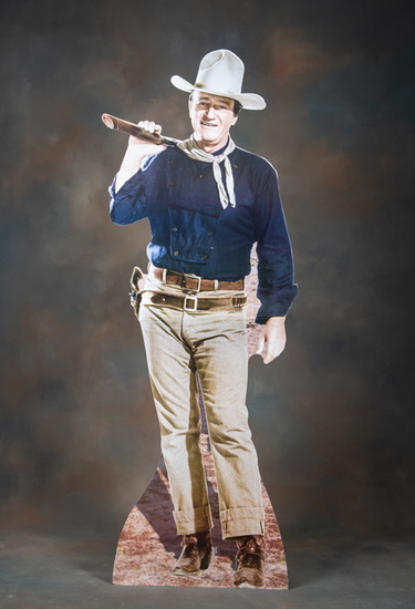 Folding, life size silhouette of John Wayne in good condition.  KING COLLECTION.