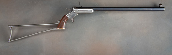 Antique Steven's, Hunters Pet Pocket Rifle, No. 34, SN 744 with matching numbered stock.  This is th