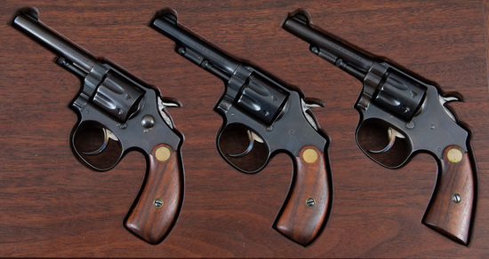 Three very scarce M Frame Smith & Wesson Revolvers, First, Second & Third Models.  A nice looking Cu