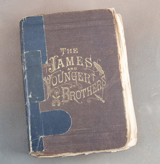 """Book titled  """"THE JAMES AND YOUNGER BROTHERS"""" by Hon. J.A. Dacus, Ph.D., New Edition, """"ST. Louis: N."""