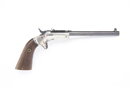 J. Steven's Diamond No. 43, Second Issue Pistol, SN 83058.  Manufactured circa 1896-1916.  This ti
