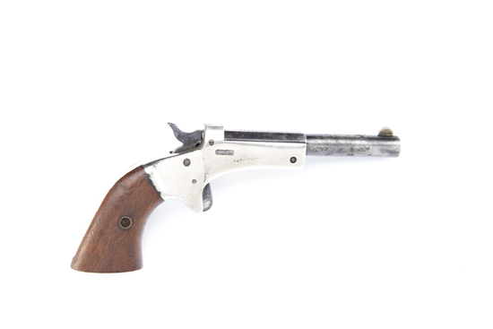 J. Steven's No. 41, Tip-up Pistol, SN 56151.  Manufactured circa 1903-1916.  This tip-up style pis