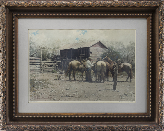 Framed Print, Artist Proof, by late CA Artist Melvin C. Warren (1920-1995), hand signed lower right