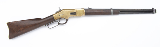 Winchester, Model 1866, Yellowboy Saddle Ring Carbine, SN 154006, manufactured in 1880.  This SRC is