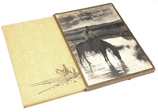 """Highly collectible Book, titled """"LIFE ON THE TEXAS RANGE"""", Photographs by ERWIN E. SMITH, Text by J."""