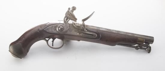 """British Tower Flintlock Land Pattern Pistol, .65 caliber.  This Flintlock Pistol is """"Tower"""" marke"