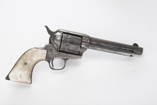 """Antique Etched Panel Colt, SAA Revolver, .44/40 caliber, SN 105862, manufactured 1884, 5 1/2"""" barr"